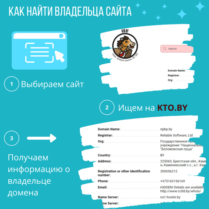 Как найти информацию о владельце домена сайта