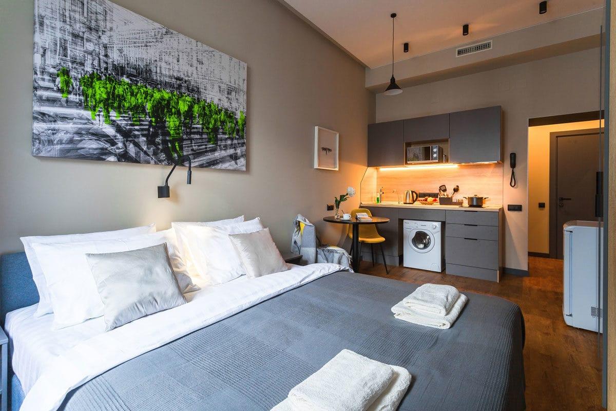 Апартаменты редко представлены эконом- и комфорт-классами