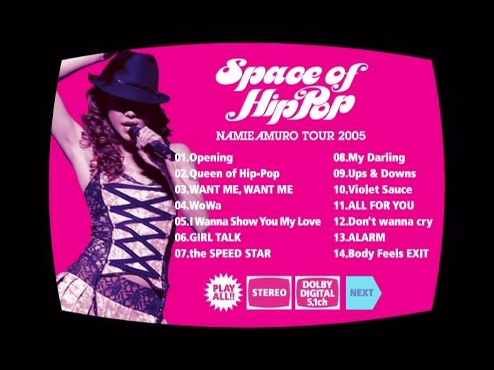 20210610.1336.02 Amuro Namie - Space of Hip-Pop ~Tour 2005~ (DVD) menu 1.png