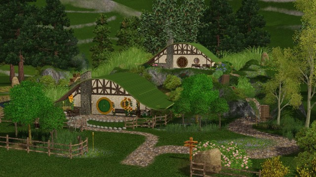 The Hobbit hole by Galadrielh
